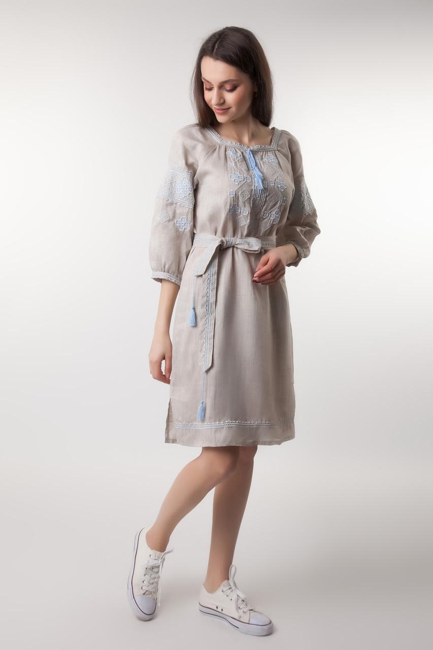 626d1c8c502386 Плаття вишиванка з натурального нефарбованого льону: продажа, цена в ...