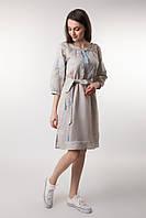 Плаття вишиванка з натурального нефарбованого льону 42 ae04048d08749