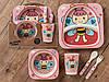Бамбуковый набор детской посуды (ЭКО) «Пчелка»..