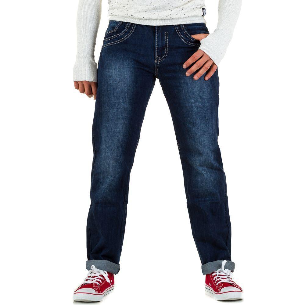 Мужские джинсы попперс, размер 30 - синий - KL-H-L8131-синий 30