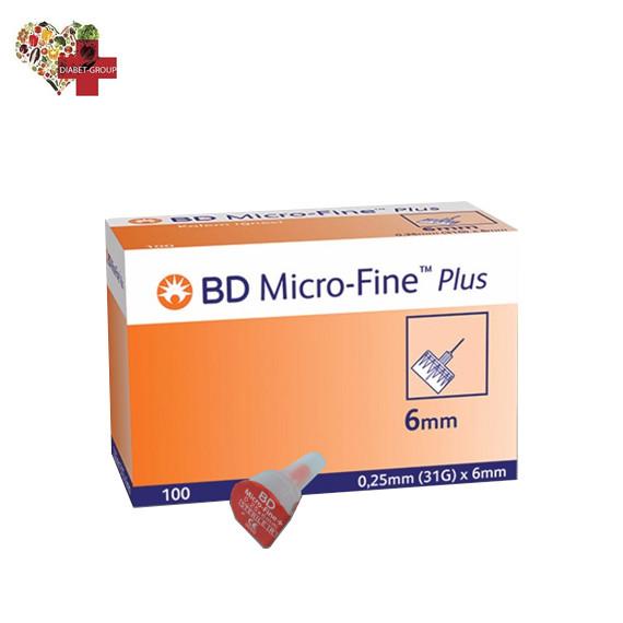 """Иглы для шприц-ручек BD Micro-Fine+ """"МикроФайн"""" 6 мм. (100 шт.)"""