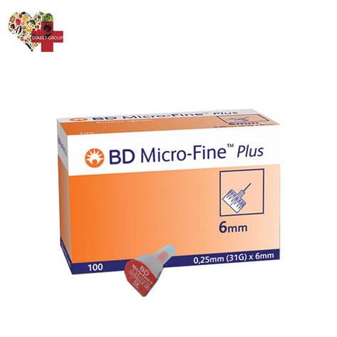 """Иглы для шприц-ручек BD Micro-Fine+ """"МикроФайн"""" 6 мм. (100 шт.), фото 2"""
