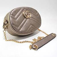 Темно-золотистая сумка Valensiy кросс-боди на пояс и через плечо, фото 1