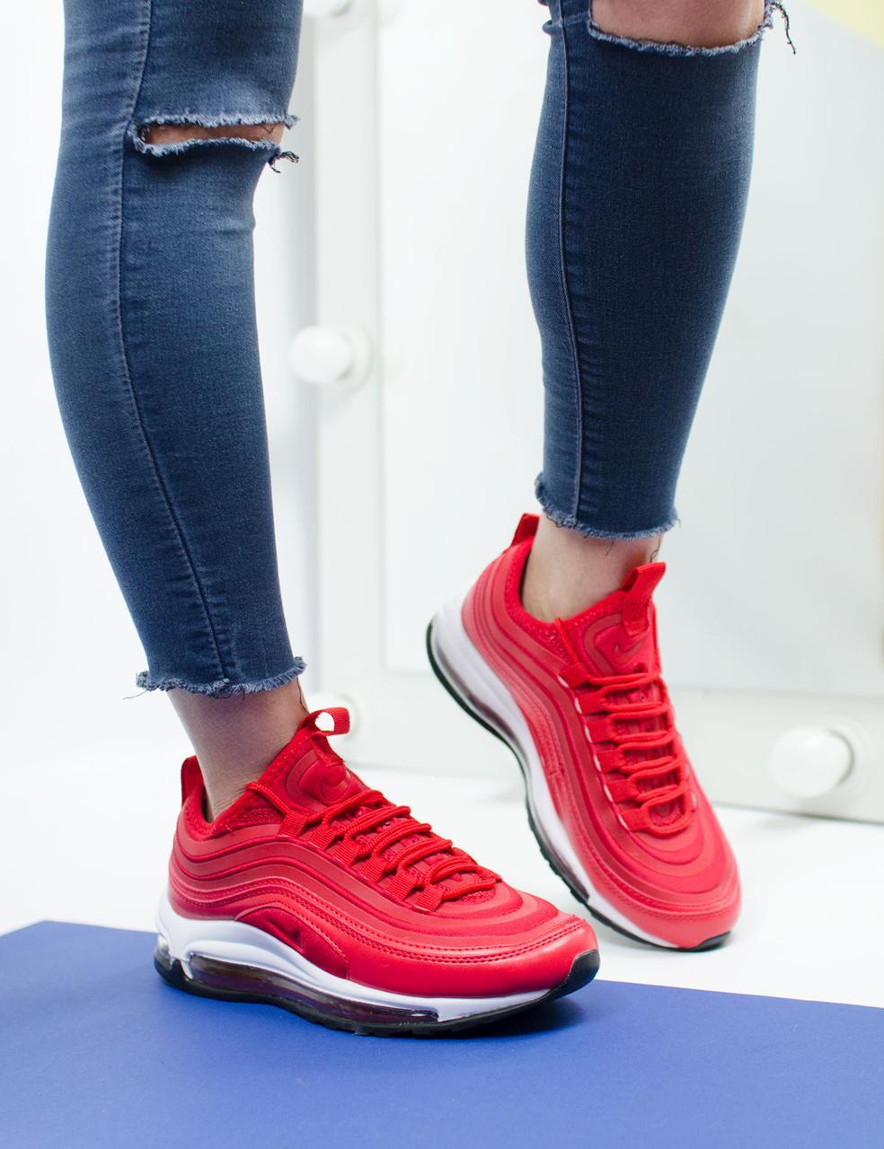 Женские кроссовки Nike Air Max 97 Red (36, 37, 38, 39, 40 размеры)