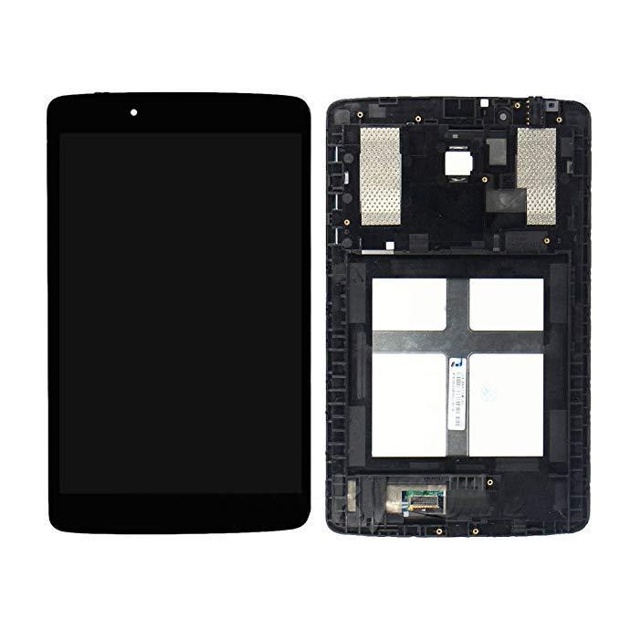 Дисплей для LG V400 G Pad 7.0/V410 с тачскрином и рамкой черный Оригинал