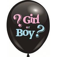 Шарики для Gender party мальчик или девочка внутри конфетти