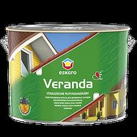 Краска для дерева фасадная Eskaro Veranda, TR, 9л