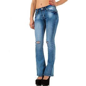 Женские рваные джинсы расклешенные от колена R.Jonaco (Англия), Синий