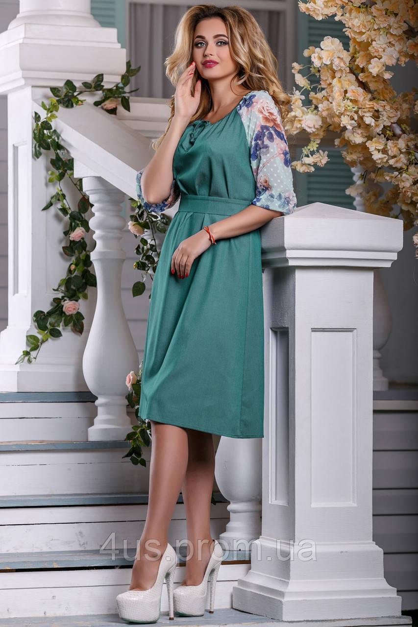 1e40a4db3bf6871 ... фото ✉️Зеленое платье с вышивкой на рукавах / Размер M L / P19А6В1 -  2597, ...