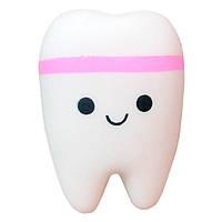 Мягкая игрушка Сквиши Squishy антистресс Зуб с запахом №35