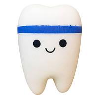 Мягкая игрушка Сквиши Squishy антистресс Зуб с запахом №34