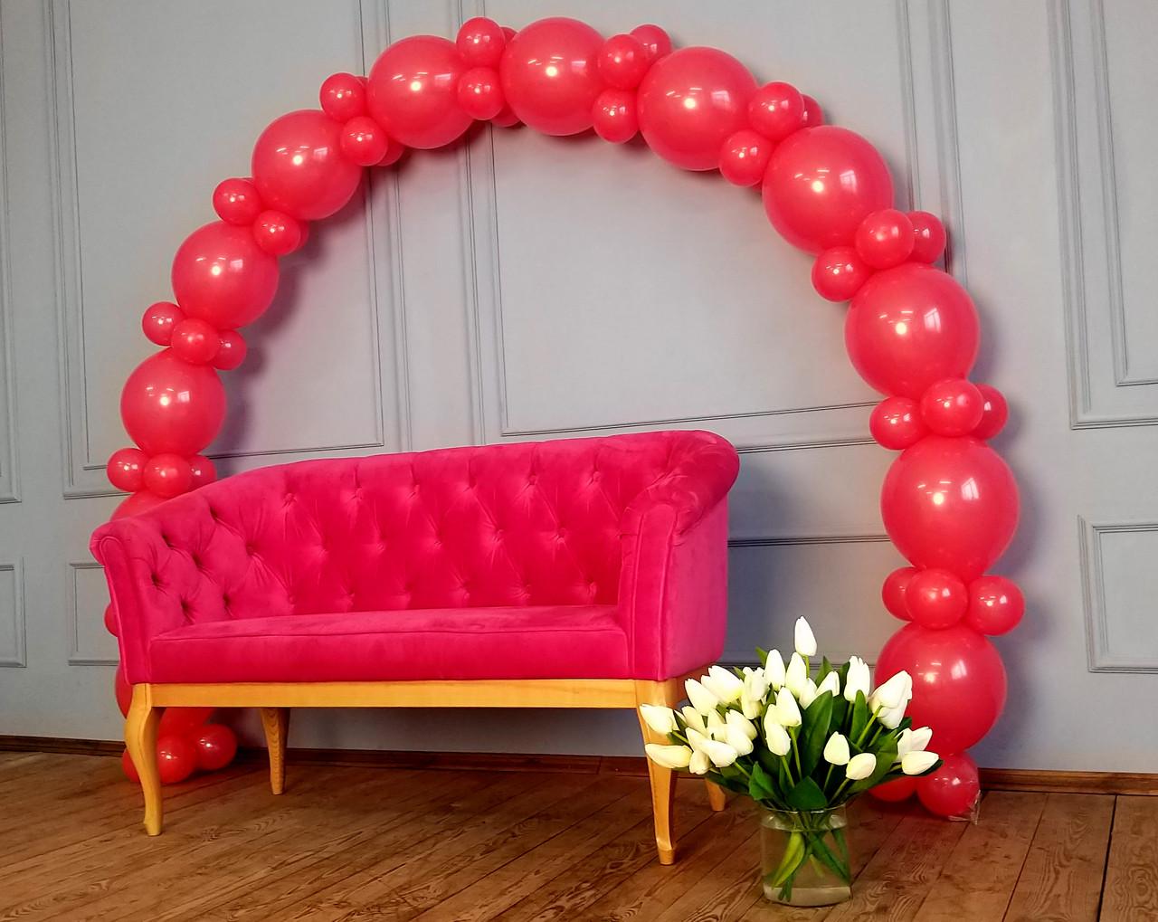 Арка из воздушных шариков (красная) / длина 4 м 40 см для украшения праздника