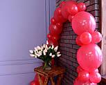 Арка из воздушных шариков (красная) / длина 4 м 40 см для украшения праздника, фото 7