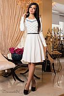 Торжественное белое платье / Размер XXL / P21А6В1 - 1897