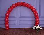 Арка из воздушных шариков (красная) / длина 4 м 40 см для украшения праздника, фото 4