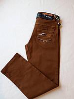 Брюки коттоновые на мальчика SZGGoldLion, коричневый (9-13лет), фото 1