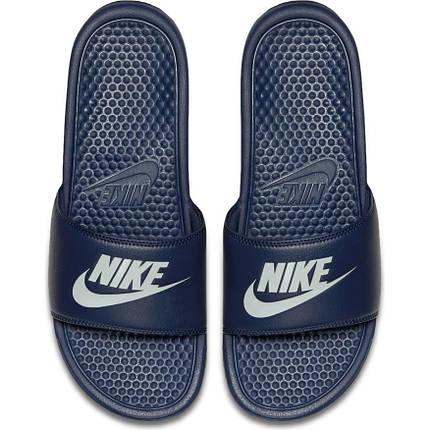 7092d9f1 Мужские спортивные тапочки Nike Benassi JDI Slide 343880-403 Синий, фото 2