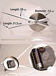 Великі оригінальні годинник на стіну, інтер'єрні 3D Сріблясті 365442, фото 5