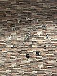 Великі оригінальні годинник на стіну, інтер'єрні 3D Сріблясті 365442, фото 8