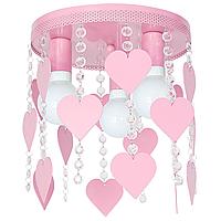 Потолочный светильник в детскую Эльза светло - розовый