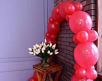 Гірлянда з повітряних кульок (червона) + насос для повітряних кульок в комплекті