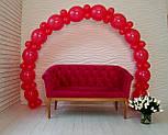 Арка из воздушных шариков (красная) для украшения праздника + насос, фото 3