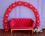 Арка из воздушных шариков (красная) для украшения праздника + насос, фото 6