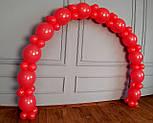 Арка из воздушных шариков (красная) для украшения праздника + насос, фото 5