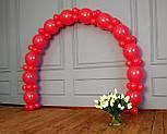 Арка из воздушных шариков (красная) для украшения праздника + насос, фото 9