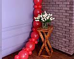 Арка из воздушных шариков (красная) для украшения праздника + насос, фото 8