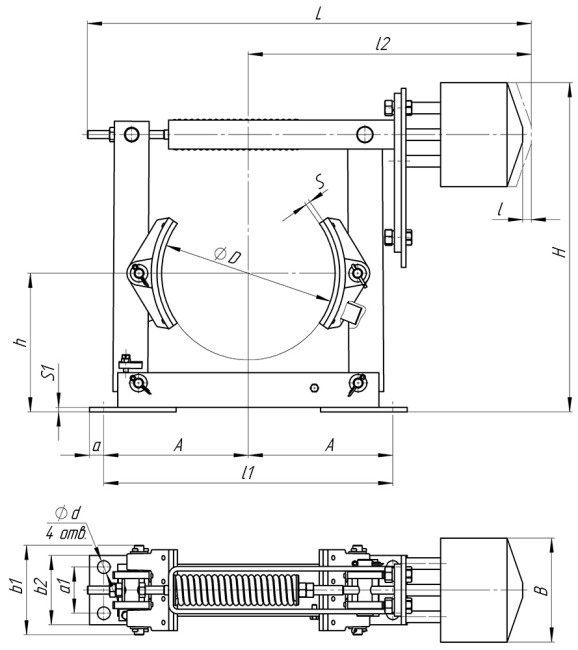 Схема колодочного тормоза ТКП купить