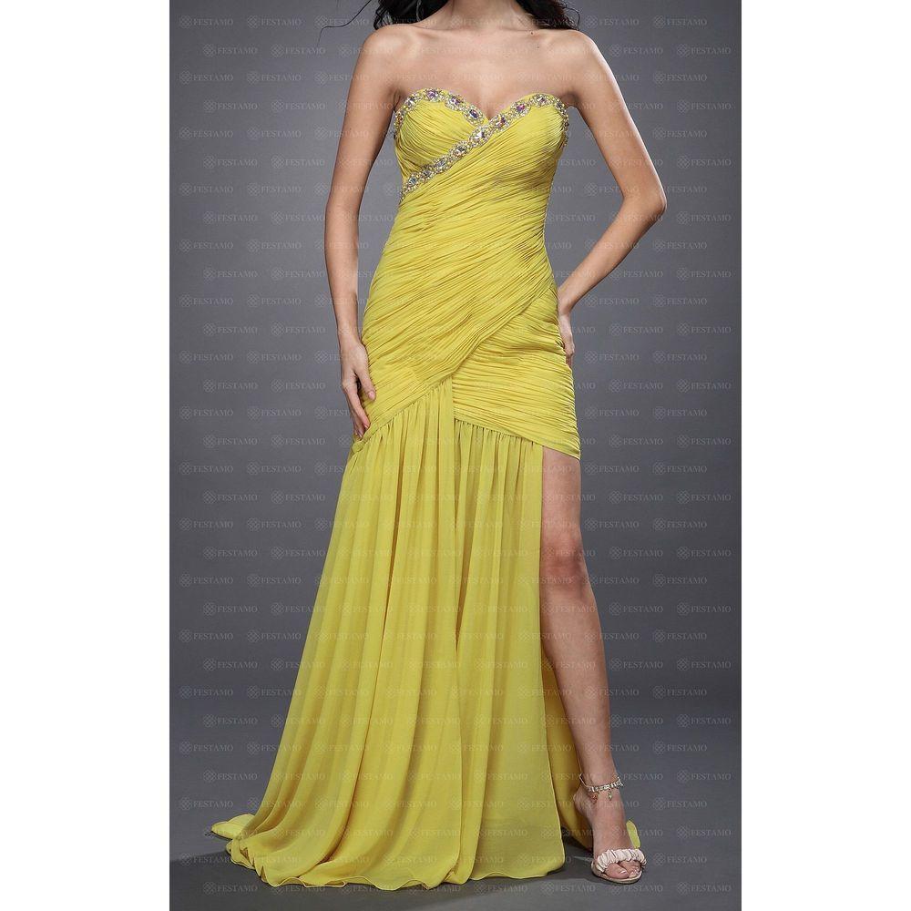 Женское платье от Festamo, размер 40 - yellow - Мкл-F2332-yellow 40