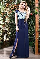Эффектное сине-бирюзовое платье в пол / Размер S-M, L-XL, XXL-3XL/ P21А6В1 - 1400