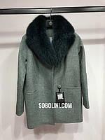 Примерка пальто с мехом Evelyn, фото 1