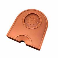 Коврик угловой для темперовки кофе B.A.R. 14x12.5 см, коричневый (9v002)