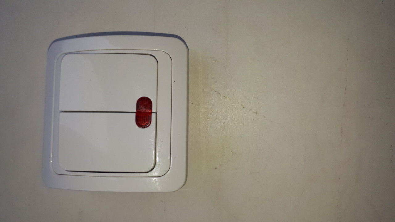 Выключатель  двухклавишный VEGA  со световой индикацией скрытой установки