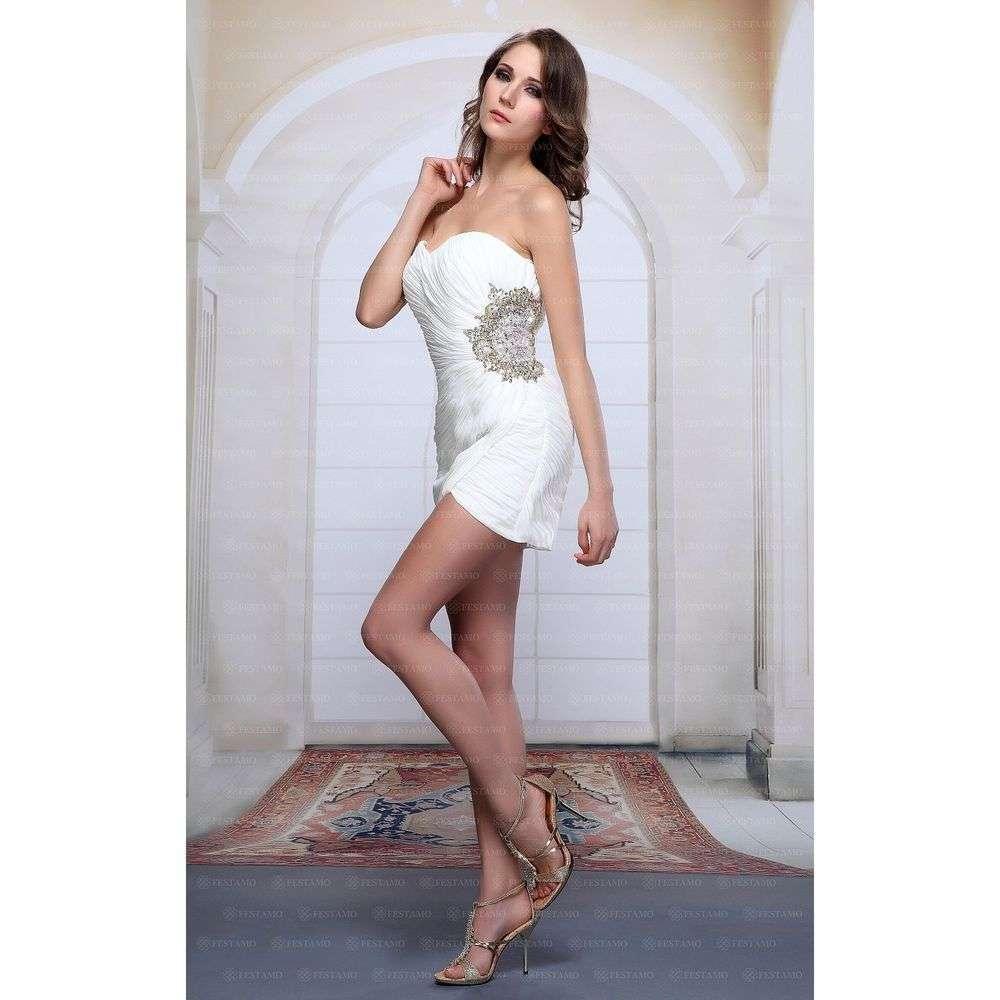 Женское платье от Festamo - белый - Мкл-F1968-белый