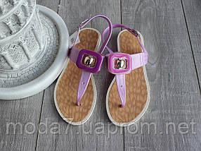 Босоножки - вьетнамки женские фиолетовые силиконовые, фото 2