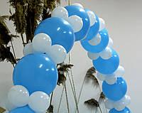 Набор для гирлянды из воздушных шаров (бело-голубая) насос в комплекте