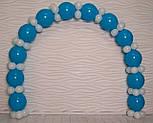 Набор для гирлянды из воздушных шаров (бело-голубая) насос в комплекте, фото 3