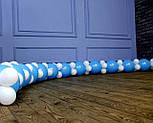 Набор для гирлянды из воздушных шаров (бело-голубая) насос в комплекте, фото 5