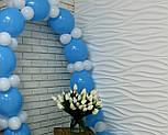 Набор для гирлянды из воздушных шаров (бело-голубая) насос в комплекте, фото 7