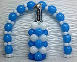 Набор для гирлянды из воздушных шаров (бело-голубая) насос в комплекте, фото 9