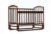 Детская кроватка « ЛАМА » маятник тонированный лак под орех