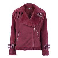Модная женская куртка из искусственного меха