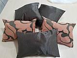 Комплект подушок Теракот з малюнком і однотонні, 5шт, фото 3