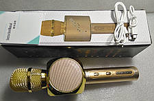 Колонка мікрофон YS-63 Gold, фото 3