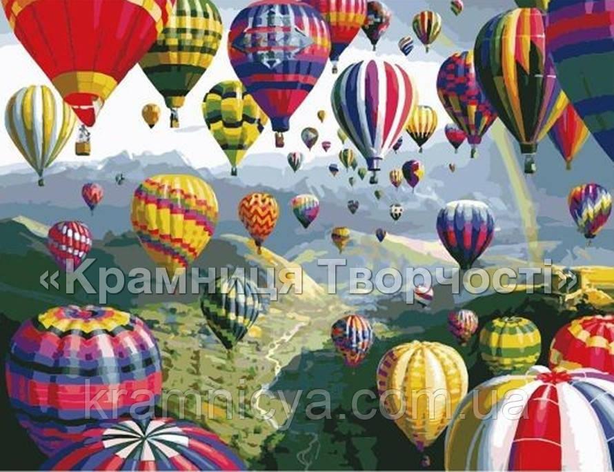 """Картина по номерам """"Разноцветные шары"""" (MG1056, КН1056),  40х50см."""