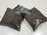 Комплект подушек  Шоколад с оборкой,  3шт, фото 1