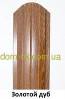 Металлический штакетник 113 мм, 108 мм  Золотой дуб 0,4 Китай Золотой дуб